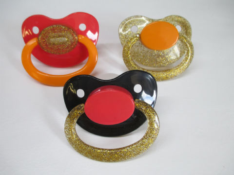 SALE -  Combo Coloured Mix and Match  Adult Sized Trio Pacifiers Set (P4)
